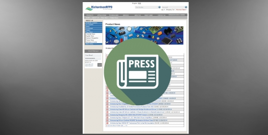 Richardson RFPD Press Releases