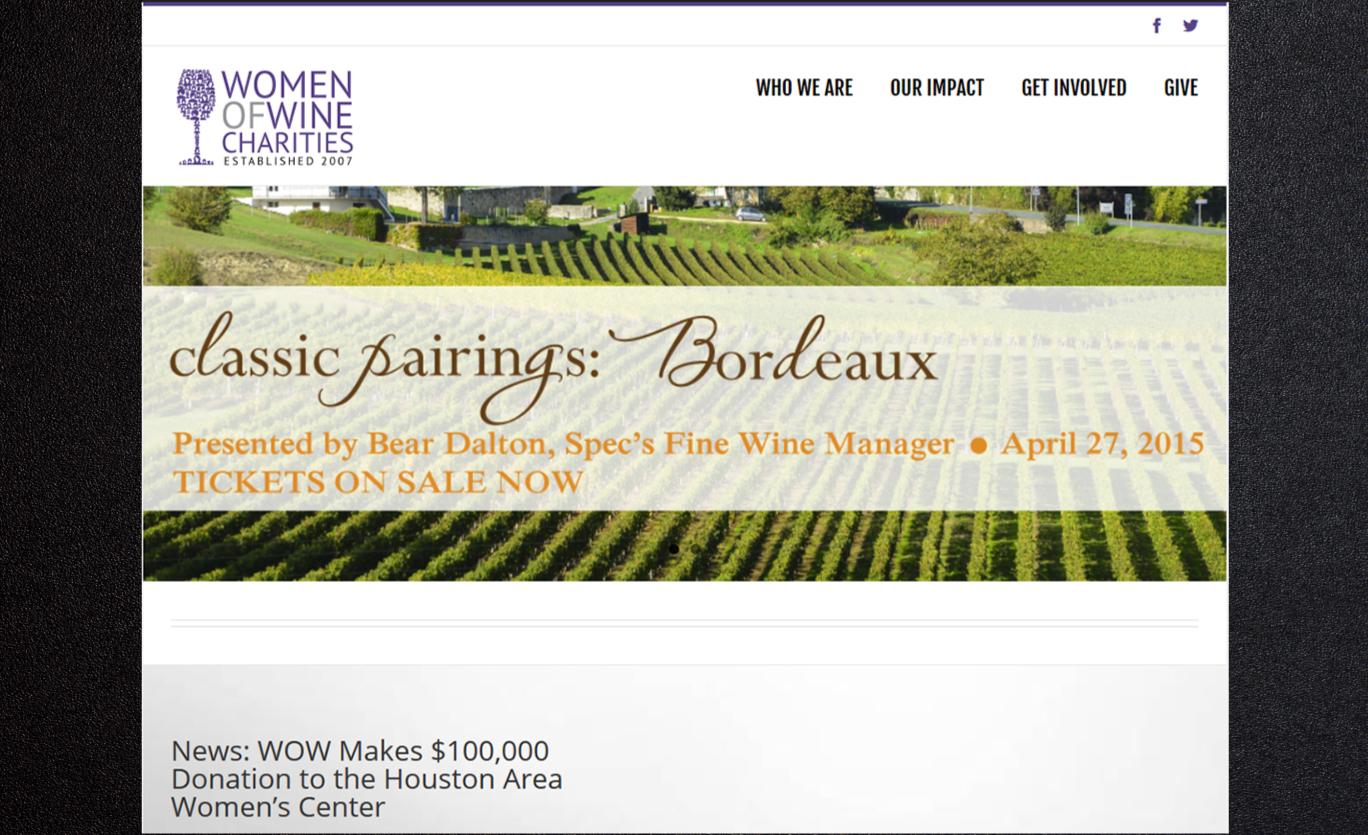 WOW website screenshot